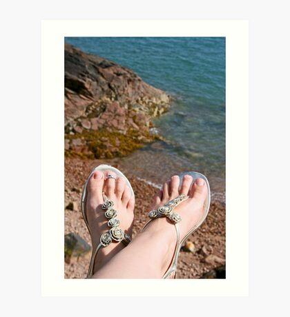 Seaside feet Art Print