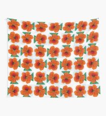 Portrait of a Nasturium Wall Tapestry