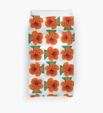Portrait of a Nasturium Duvet Cover