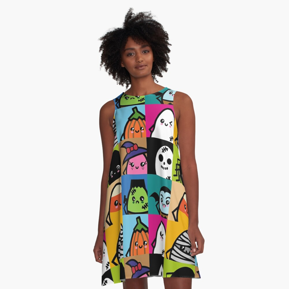 Creepy Eggs Series Party - Halloween A-Line Dress