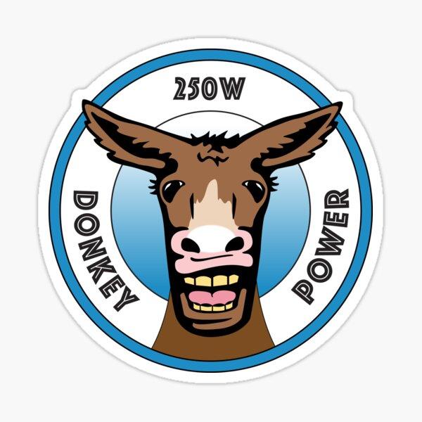 250 watt Donkey Power  Sticker