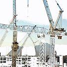 Vegas Cranes by John Schneider
