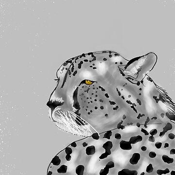 Cheetah greyscale by thebigG2005
