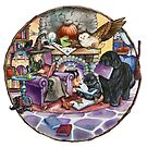Halloween Reading by the Fire by Patricia Reeder Eubank