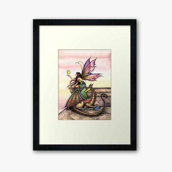 Dragons Orbs Fairy and Dragon Art by Molly Harrison Framed Art Print