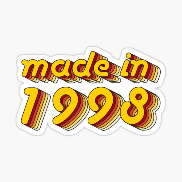 Made in 1998 (Yellow&Red) Sticker