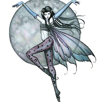 Luna's Ascent Fairy Art by Molly Harrison by robmolily
