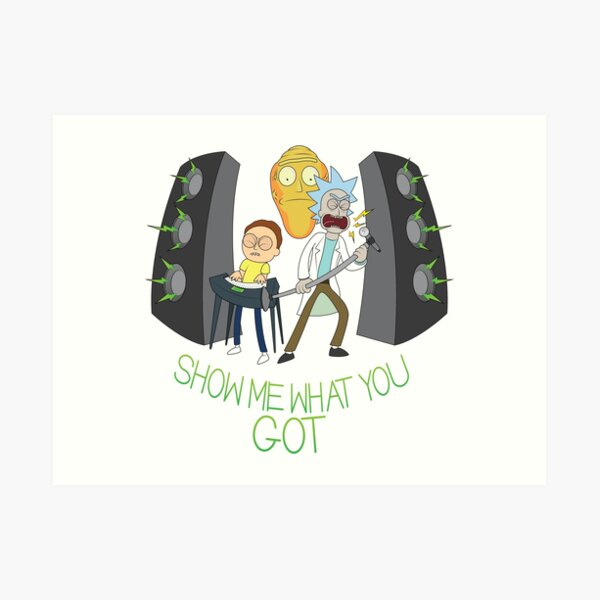 Rockin Rick & Morty Art Print
