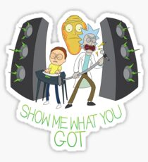 Rockin Rick & Morty Sticker