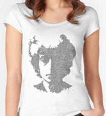 Bob Dylan Garabato Women's Fitted Scoop T-Shirt