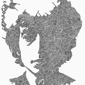 Bob Dylan Garabato by JeffBowan