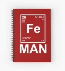 Fe (Iron) Man Spiral Notebook
