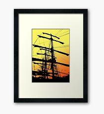 Barque Artemis Framed Print