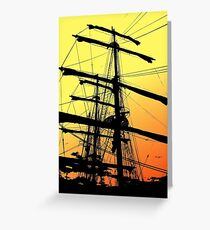 Barque Artemis Greeting Card
