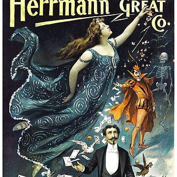 Herrmann The Great Restored Vintage Poster by vintagetreasure