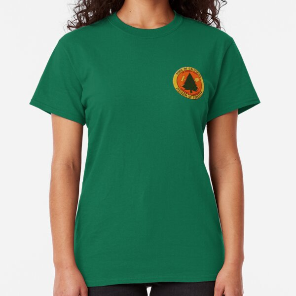 SCENIC WILDLIFE AXE HUNT OUTDOORS NATURE FOREST Mens Green T-Shirt
