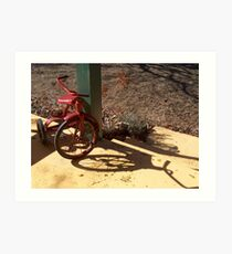 Red Tricycle Art Print