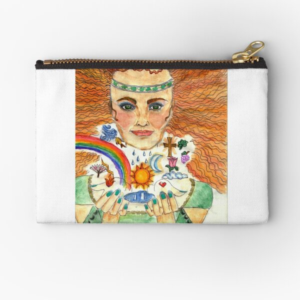 Celtic Women with Rainbows and the Sun and Moon Zipper Pouch