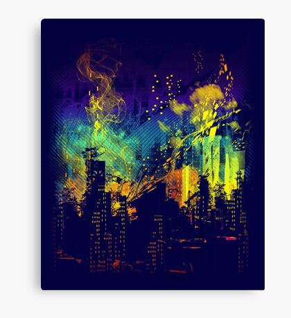 grid city Canvas Print