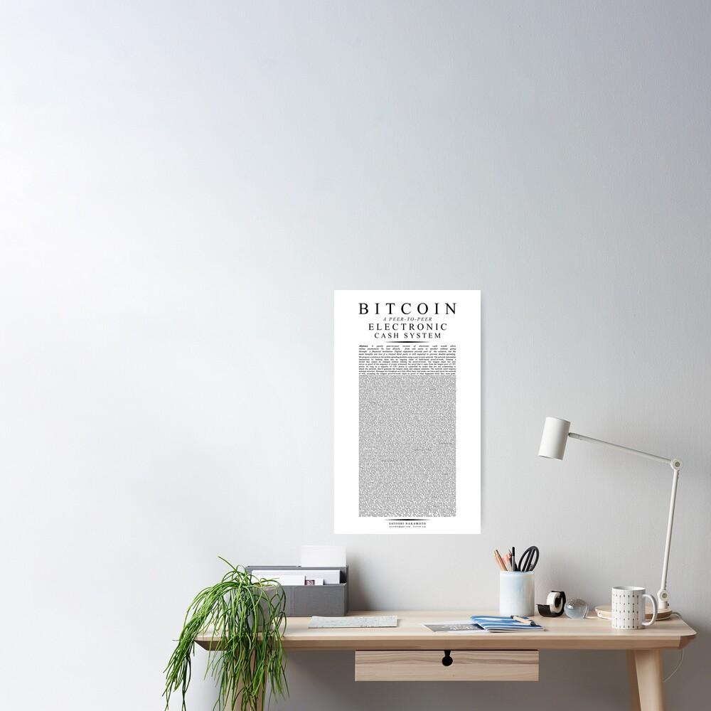 Bitcoin Whitepaper // Satoshi Nakamoto Poster