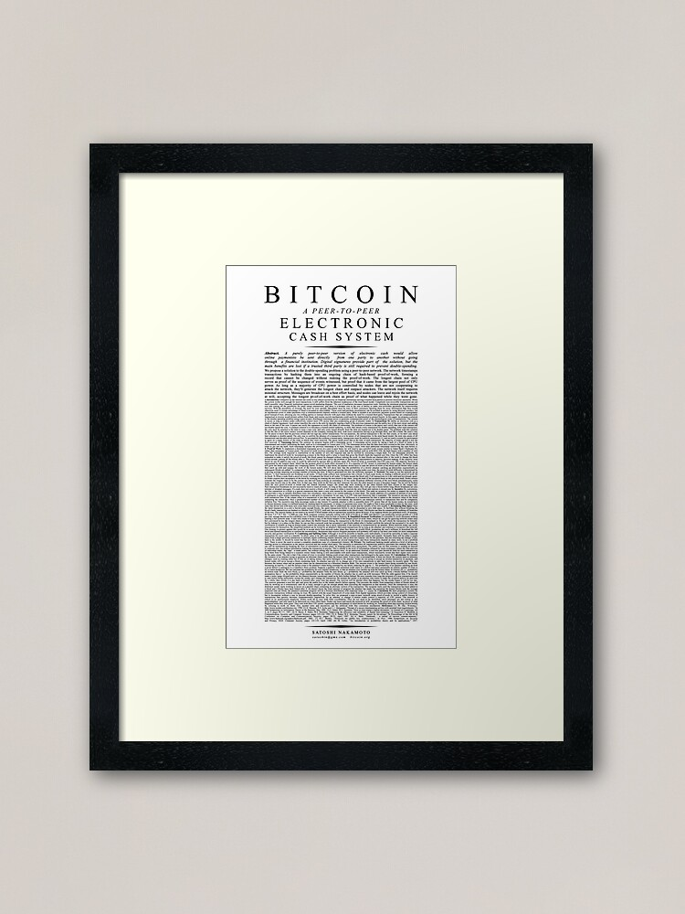 satoshi nakamoto bitcoin white paper