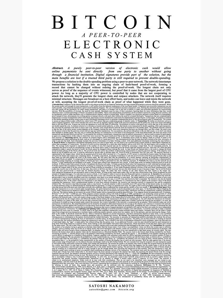 Bitcoin Whitepaper // Satoshi Nakamoto by cryptoboy