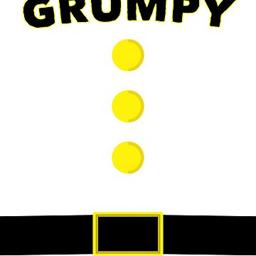 Grumpy Dwarf Halloween and Christmas Costume T-shirt by kihei-design