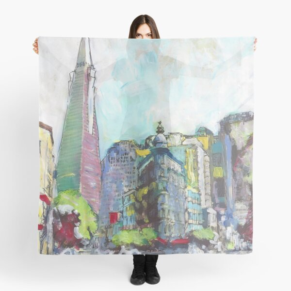 The Streets of San Francisco California Scarf