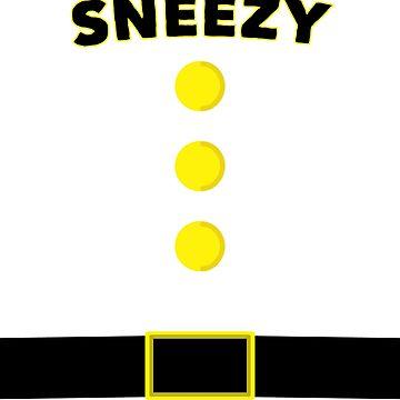 Sneezy Dwarf Halloween and Christmas Costume T-shirt by kihei-design