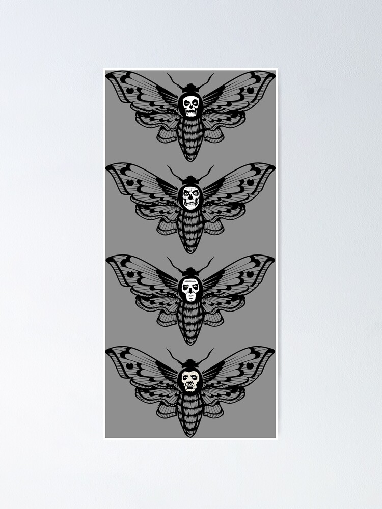 Alternate view of Ghost Death Head Moth Poster
