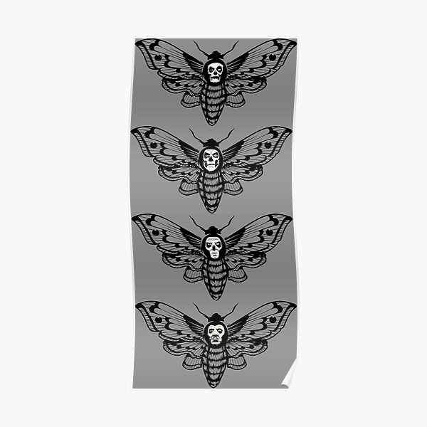 Ghost Death Head Moth Poster