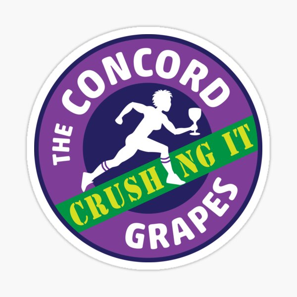 Concord Grapes - Crushing It Sticker