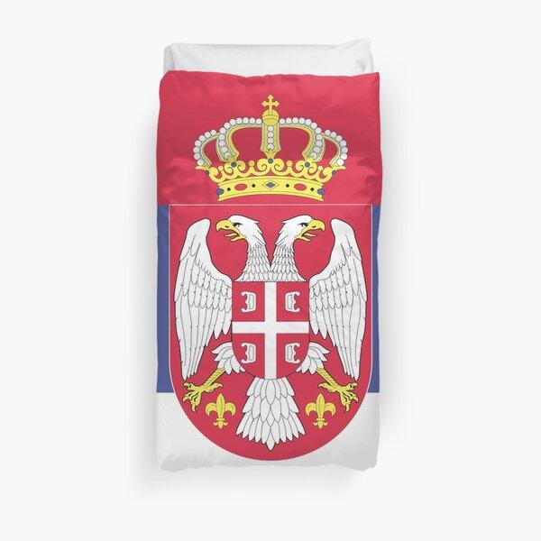 Serbia flag emblem Duvet Cover