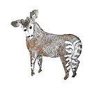 Backwards Watercolor Okapi by WildernessStore
