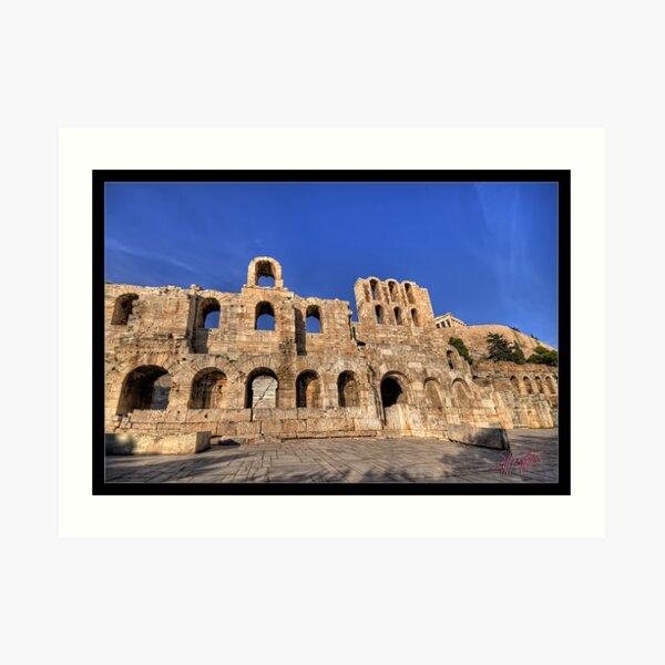Herod Atticus Odeon in Athens Greece Art Print