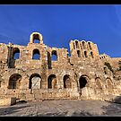 Herod Atticus Odeon in Athens Greece by Elias Tsaparas