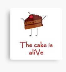 The cake is a-LIvE Metal Print