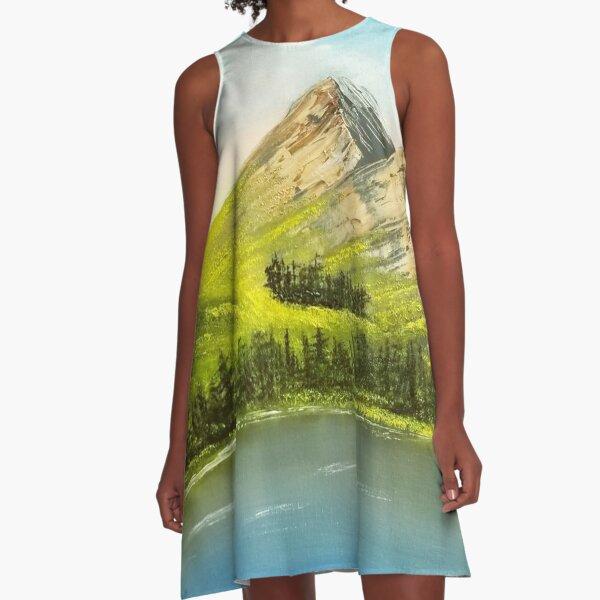 Peaceful Peaks A-Line Dress