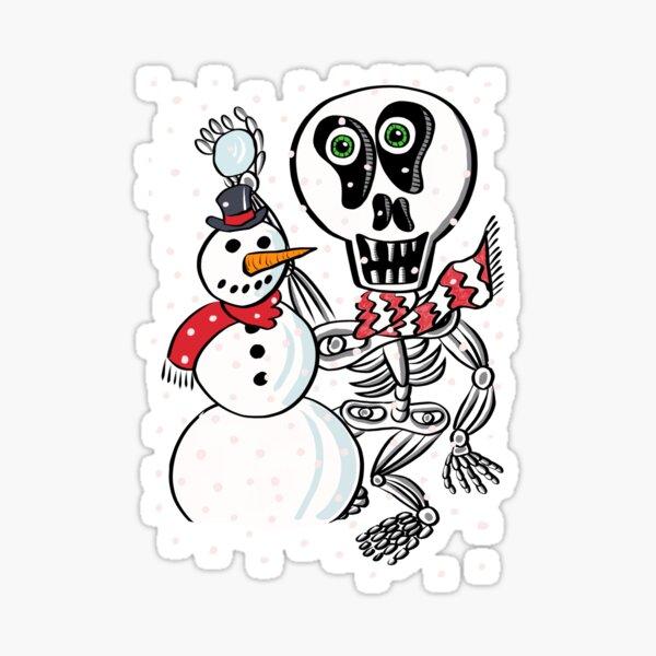Snow Skully Sticker