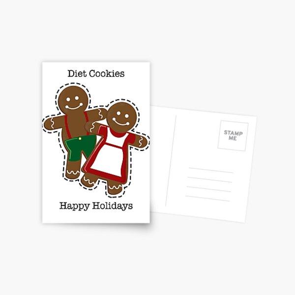 Diet Cookies Holiday Card Postcard