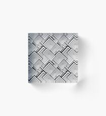 Optical Art | Op Art | The Abstraction of Cubist Collage Acrylic Block