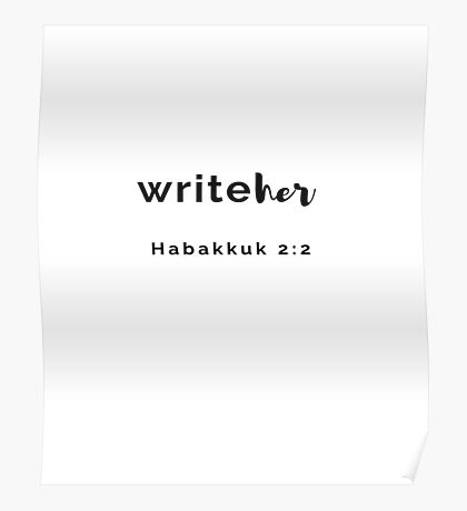 WriteHer in Black Poster