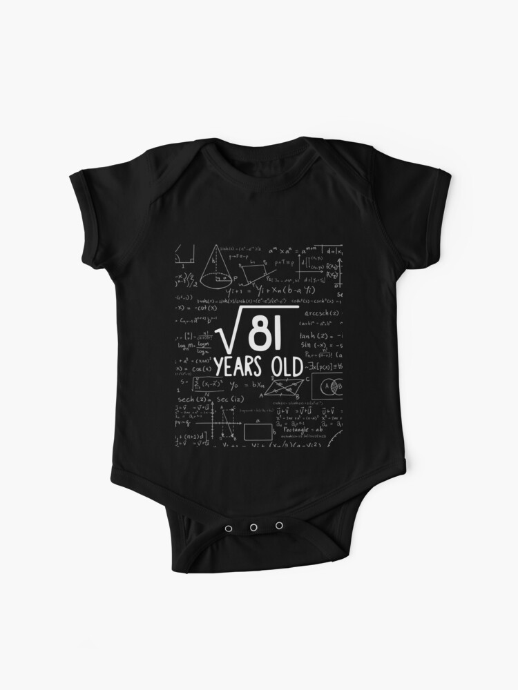 Square Root of 81 9 Years Old Youth T-Shirt Funny 9th Birthday Kids Shirt