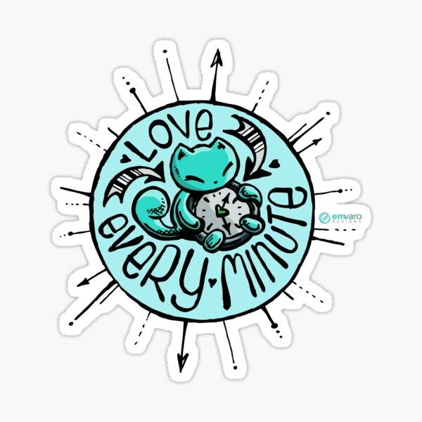 Skribbles: Love every minute (blue) Sticker