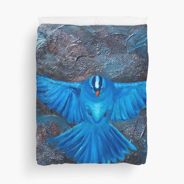 Blue Bird Joy Duvet Cover