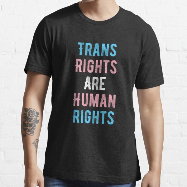 Trans Rights Are Human Rights transgender flag people Mug Essential T-Shirt