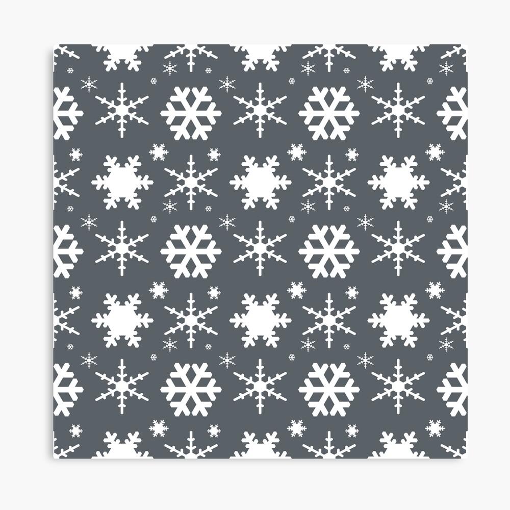 Snowflakes Gray  Canvas Print