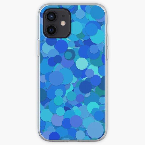 Blaues Konfetti iPhone Flexible Hülle