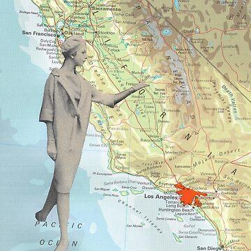 Walk over California by kikicollagist