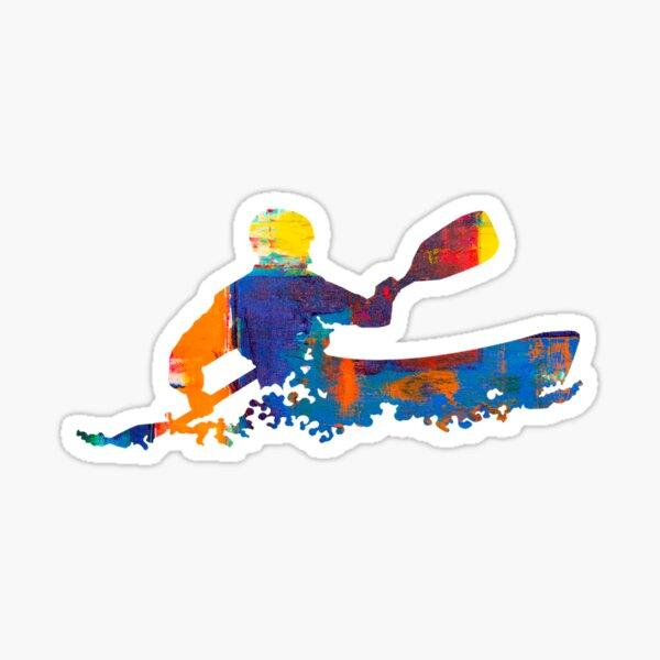 Abstract Kayak Art Sticker